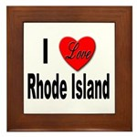 I Love Rhode Island Framed Tile
