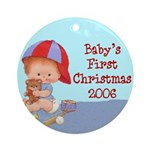 Baby's First Christmas (boy 2006) Ornament (Round)