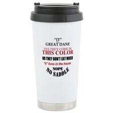 Great Dane Walking Answers Travel Mug