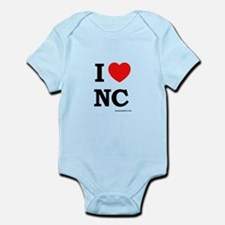Cute I love north carolina Onesie