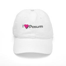 I LUV POSSUMS Baseball Cap