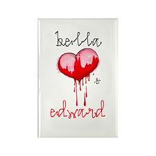 Bella Loves Edward Rectangle Magnet