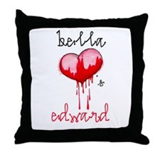 Bella Loves Edward Throw Pillow
