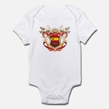 Spanish flag emblem Infant Bodysuit