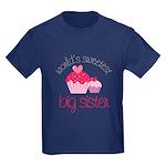 world's sweetest big sister Kids Dark T-Shirt