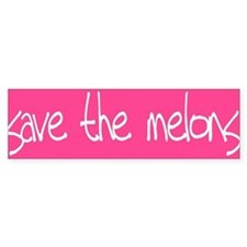 Save The Melons Bumper Bumper Sticker