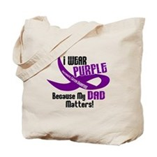 I Wear Purple For My Dad 33 PC Tote Bag