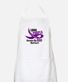 I Wear Purple For My Dad 33 PC BBQ Apron