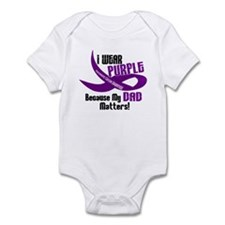 I Wear Purple For My Dad 33 PC Onesie