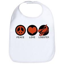 Peace Love Lobster Bib