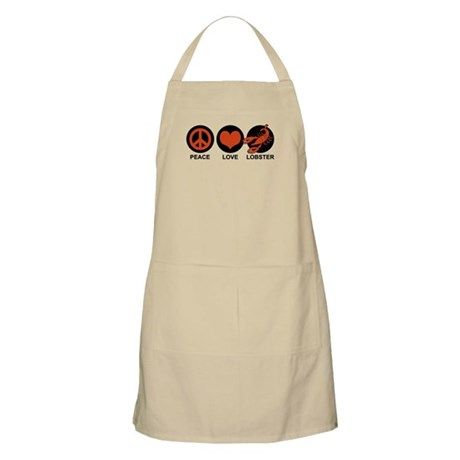Peace Love Lobster BBQ Apron