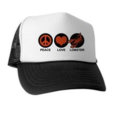 Peace Love Lobster Trucker Hat