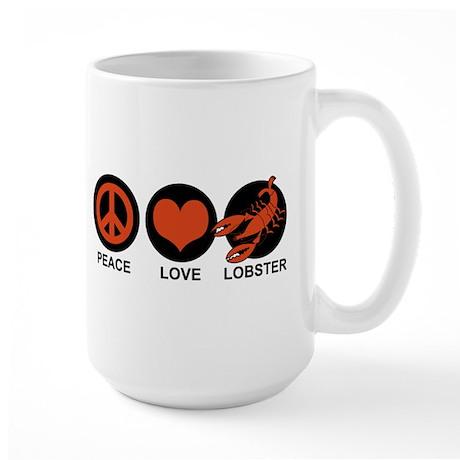 Peace Love Lobster Large Mug