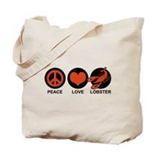 Peace Love Lobster Tote Bag