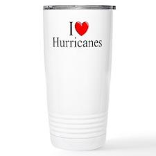 """I Love (Heart) Hurricanes"" Travel Mug"