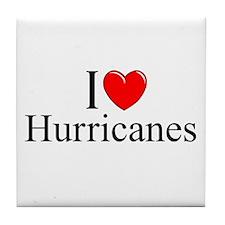 """""""I Love (Heart) Hurricanes"""" Tile Coaster"""