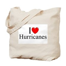 """I Love (Heart) Hurricanes"" Tote Bag"