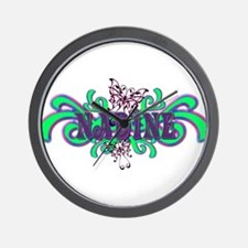 Nadine's Butterfly Name Wall Clock