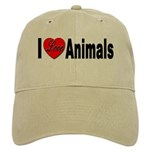 I Love Animals for Animal Lov Cap