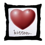 Bitten... Throw Pillow