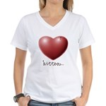 Bitten... Women's V-Neck T-Shirt