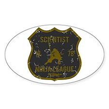 Scientist Ninja League Oval Decal