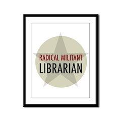 Radical Librarian Framed Panel Print