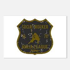 Social Worker Ninja League Postcards (Package of 8