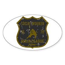 Social Worker Ninja League Oval Decal