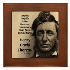 Henry David Thoreau Framed Tile