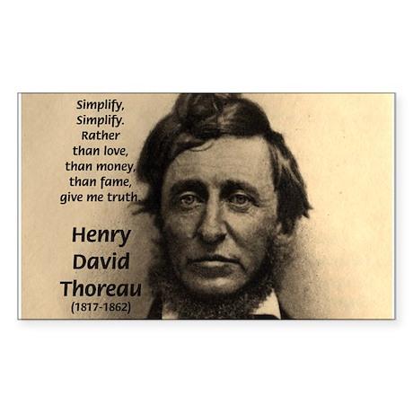 Henry David Thoreau Rectangle Sticker