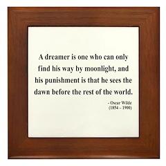 Oscar Wilde 6 Framed Tile