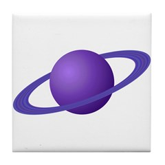 Purple Planet Tile Coaster
