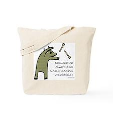 Plaid Wildebeest Tote Bag