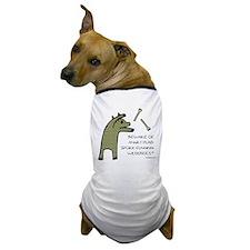 Plaid Wildebeest Dog T-Shirt