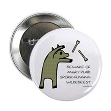 "Plaid Wildebeest 2.25"" Button"