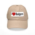 I Love Badgers Cap