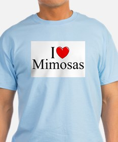 """I Love (Heart) Mimosas"" T-Shirt"