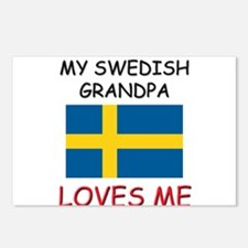 My Swedish Grandpa Loves Me Postcards (Package of