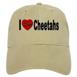 I Love Cheetahs for Cheetah L Cap