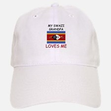 My Swazi Grandpa Loves Me Baseball Baseball Cap