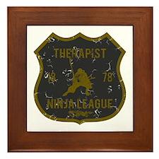 Therapist Ninja League Framed Tile
