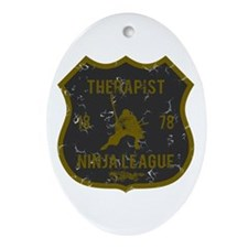 Therapist Ninja League Oval Ornament