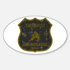 Therapist Ninja League Oval Decal