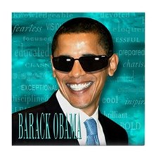 Obama Cool Tile Coaster