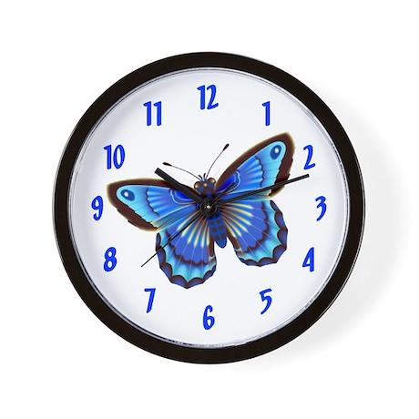 BUTTERFLYBLUE Wall Clock / 10inch
