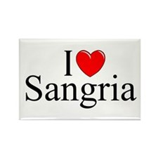 """I Love (Heart) Sangria"" Rectangle Magnet"