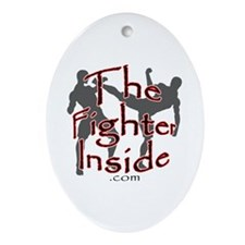 TheFighterInside.com Oval Ornament