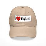 I Love Elephants Cap