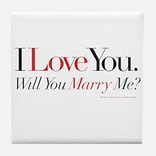Marry Me! Tile Coaster